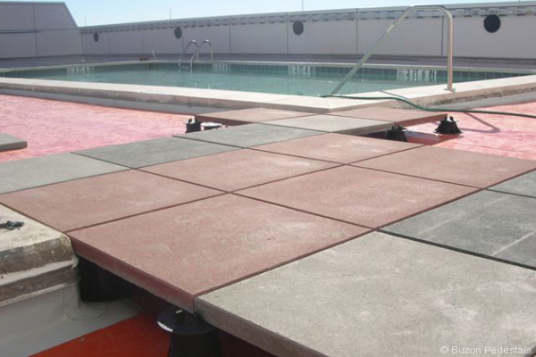 Lovely Buzon Pedestals For Rooftop Pool At Hyatt Hotel