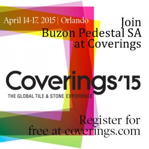 Visit Buzon Pedestal in booth 5837 - Coverings 2015